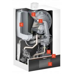 """Viessmann Vitodens 200-W 25 kW, cu afisaj de 7"""" si boiler Vitocell 200 litri (Z020077)"""