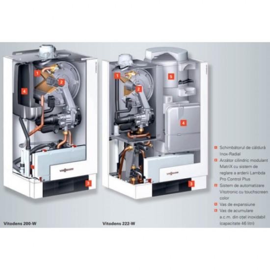 Viessmann Vitodens 200-W 120 kW Incalzire cu Vitotronic 100 HC1B (B2HAL66)