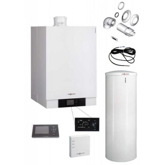Viessmann Vitodens 200-W 49 kW cu boiler bivalent Vitocell 300L (B2HAL55)